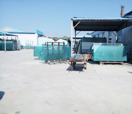 玻不璃-沙河厂区一角展示