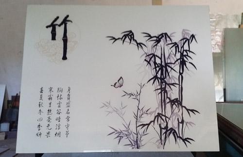 玻不璃-竹子艺术玻璃展示