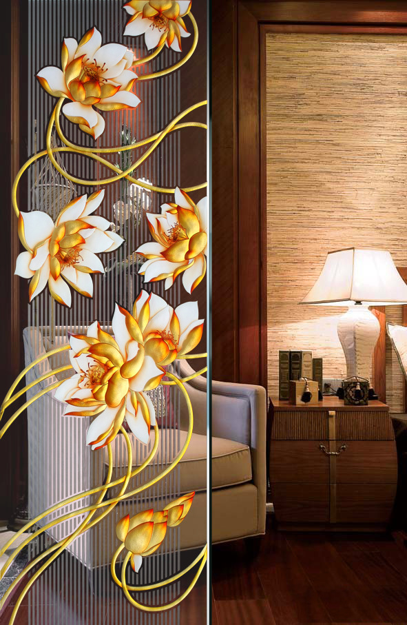 玻不璃-艺术雕刻玻璃玄关