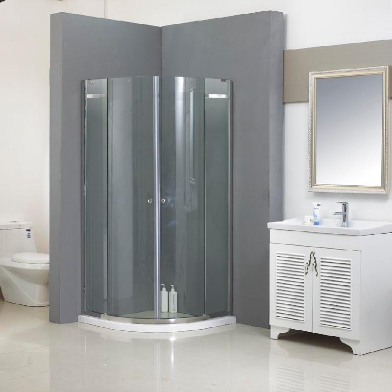 玻不璃-浴室玻璃门6MM钢化白玻加工