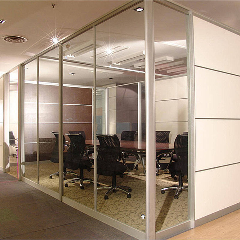 玻不璃-双玻中空隔断 高隔间办公钢化玻璃 办公室玻璃隔断墙 铝合金隔断